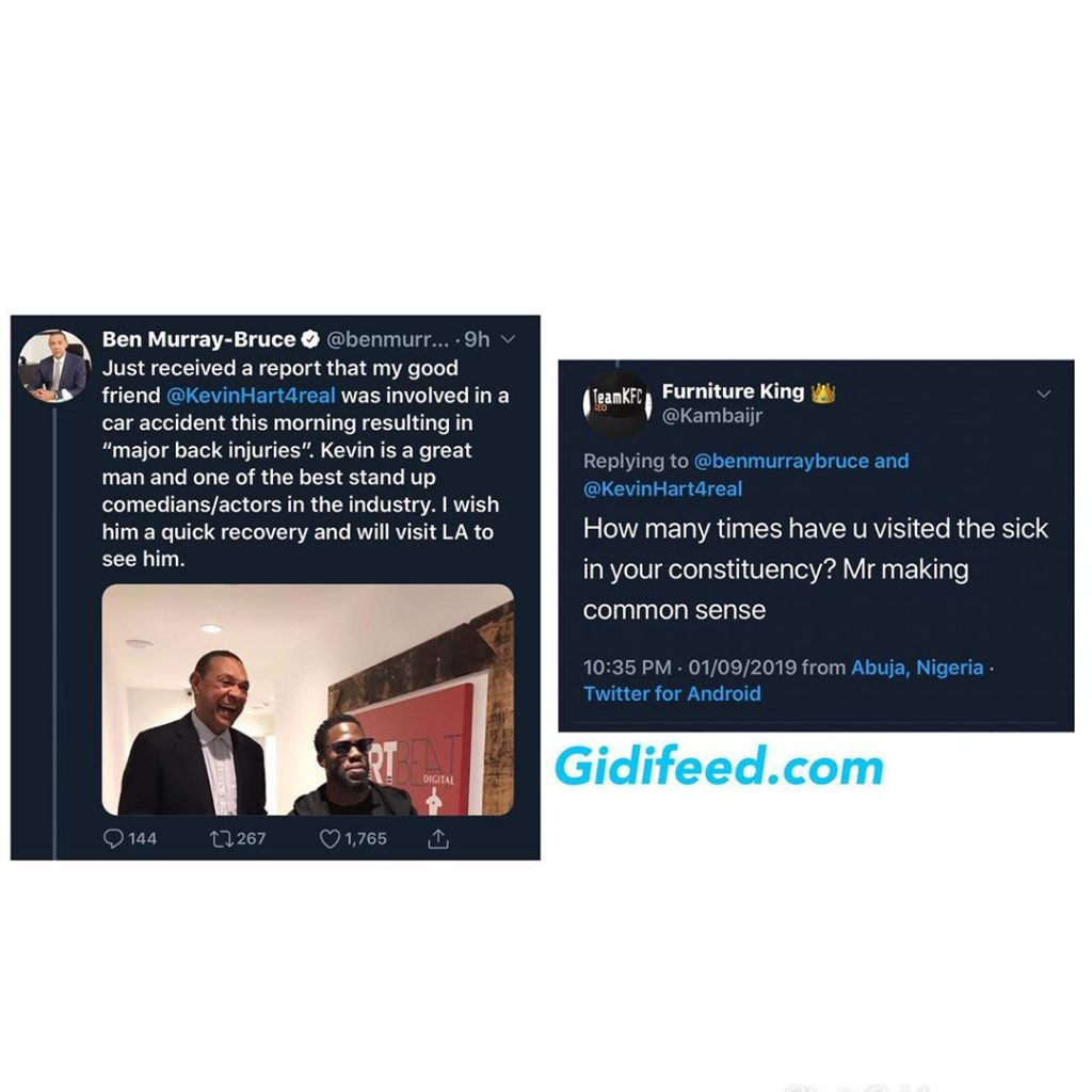 Ben Bruce Reacts To Kevin Hart\u0027s Car Accident , GidiFeed